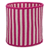 "Baja Stripe Basket - Magenta 12""x12""x10"" Storage Basket"