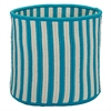 "Baja Stripe Basket - Teal 12""x12""x10"" Storage Basket"