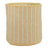 "Baja Stripe Basket - Yellow 14""x14""x12"" Storage Basket"