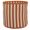 "Baja Stripe Basket - Orange 14""x14""x12"" Storage Basket"