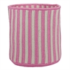 "Baja Stripe Basket - Pink 14""x14""x12"" Storage Basket"