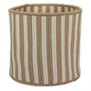 "Baja Stripe Basket - Natural 12""x12""x10"" Storage Basket"
