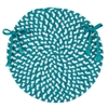 Colonial Mills Blokburst - Teal Chair Pad (single)