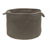 "Colonial Mills Boca Raton - Gray 18""x12"" Utility Basket"