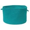 "Colonial Mills Boca Raton - Turquoise 14""x10"" Utility Basket"