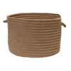 "Colonial Mills Boca Raton - Cashew 18""x12"" Utility Basket"