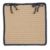 Boat House - Navy Chair Pad (single)