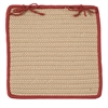Boat House - Rust Red Chair Pad (set 4)