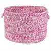"Catalina- Magenta 18""x12"" Storage Basket"