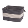 "Rope Walk- Gray 14""x10"" Utility Basket"
