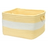 "Colonial Mills Rope Walk - Yellow 18""x12"" Utility Basket"