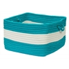 "Colonial Mills Rope Walk- Turquoise 14""x10"" Utility Basket"