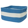 "Rope Walk- Blue Ice 14""x10"" Utility Basket"