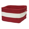 "Colonial Mills Rope Walk- Red 14""x10"" Utility Basket"
