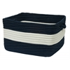 "Rope Walk- Navy 14""x10"" Utility Basket"
