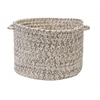 "Colonial Mills Corsica- Silver Shimmer 14""x10"" Utility Basket"
