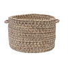 "Colonial Mills Corsica - Storm Gray 18""x12"" Utility Basket"