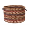 "Cedar Cove- Rust 18""x12"" Storage Basket"