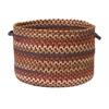 "Colonial Mills Cedar Cove- Rust 18""x12"" Storage Basket"