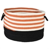 "Colonial Mills Candy Swirl Storage Orange & Black 18""x12"""