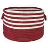 "Colonial Mills Candy Swirl Storage Red & White 18""x12"""