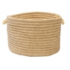 "Colonial Mills Softex Check - Pale Banana Check 18""x12"" Utility Basket"
