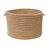 "Colonial Mills Softex Check - Buff Check 18""x12"" Utility Basket"
