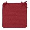 Courtyard - Red Chair Pad (set 4)