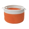 "Dipped Indoor/Outdoor Basket - Orange 14""x10"""