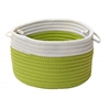 "Dipped Indoor/Outdoor Basket - Bright Green 18""x12"""
