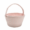Easter Ticking Basket Pink 8x12x7