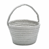 Easter Ticking Basket Gray 8x12x7