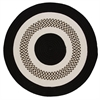 Colonial Mills Flowers Bay - Black 4' round