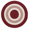 Colonial Mills Flowers Bay - Red 12' round