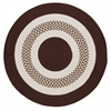 Colonial Mills Flowers Bay - Brown 8' round