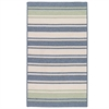 Colonial Mills Frazada Stripe - Light Blue & Mint 8'x10'