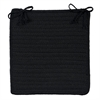 Simply Home Solid - Black Chair Pad (set 4)