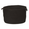 "Colonial Mills Simply Home Solid - Black 24""x14"" Utility Basket"