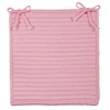 Simply Home Solid - Light Pink Chair Pad (set 4)