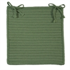 Simply Home Solid - Moss Green Chair Pad (set 4)