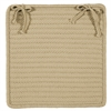 Simply Home Solid - Linen Chair Pad (set 4)