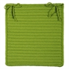 Colonial Mills Simply Home Solid - Bright Green Chair Pad (set 4)