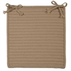 Colonial Mills Simply Home Solid - Cuban Sand Chair Pad (set 4)