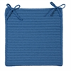 Simply Home Solid - Blue Ice Chair Pad (set 4)