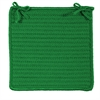 Simply Home Solid - Leaf Green Chair Pad (set 4)