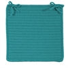 Colonial Mills Simply Home Solid - Teal Chair Pad (set 4)
