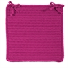 Colonial Mills Simply Home Solid - Magenta Chair Pad (set 4)