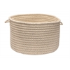 "Natural Wool Houndsdtooth- Cream 24""x14"" Utility Basket"