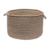 "Natural Wool Houndstooth- Latte 14""x10"" Utility Basket"
