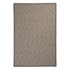 Natural Wool Houndstooth - Latte 4' square